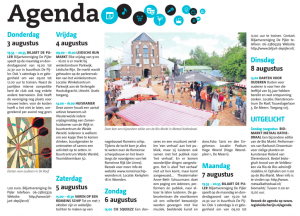 Agenda in de weekkrant